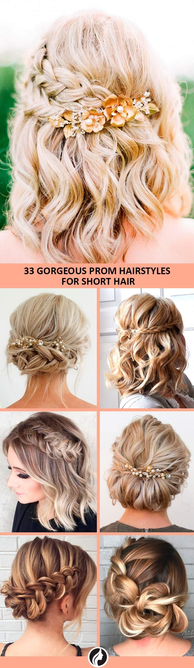 33 amazing prom hairstyles for short hair 2019 | hair | prom