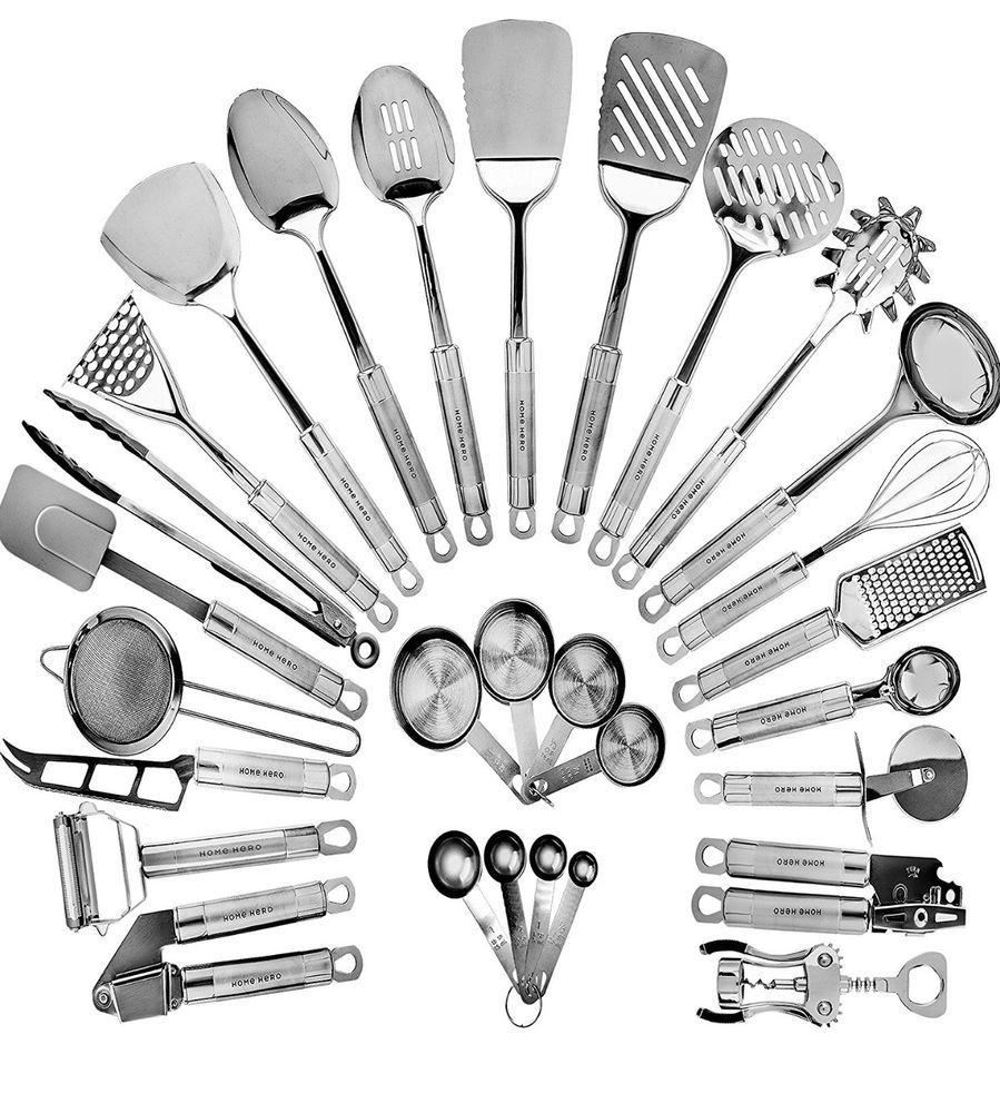 Stainless Steel Kitchen Utensil Set 29 Cooking Utensils