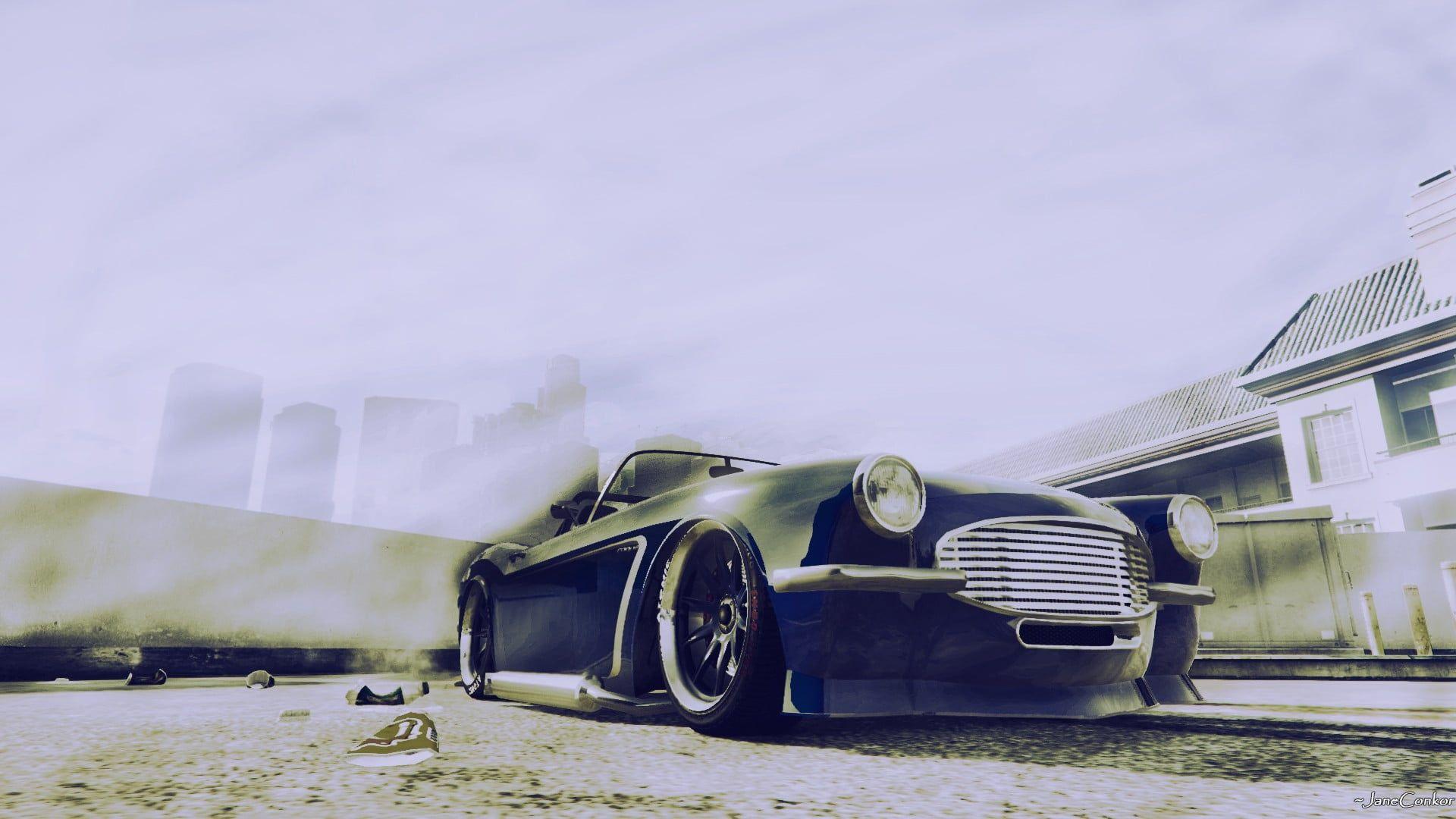 classic black convertible coupe Grand Theft Auto V #car # ...
