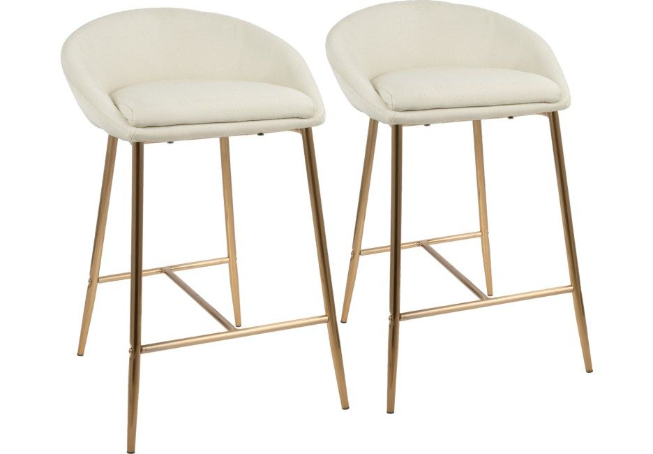 Terrific Orna Cream Counter Height Stool Set Of 2 In 2019 Counter Gmtry Best Dining Table And Chair Ideas Images Gmtryco