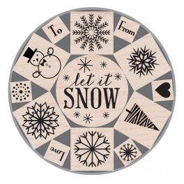 Set sellos Let it Snow