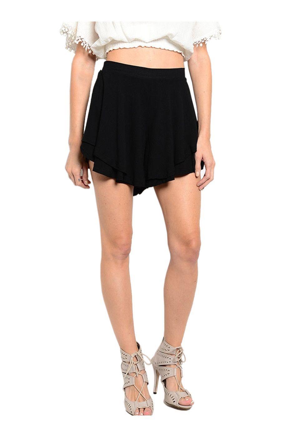 Layered High Waisted Flowy Shorts