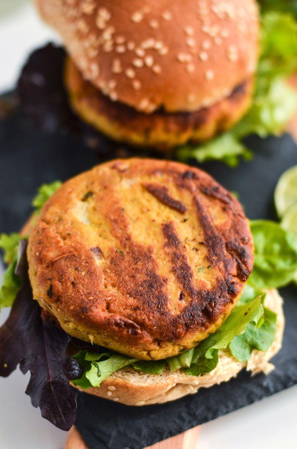 Jackfruit Curry Burger Patties