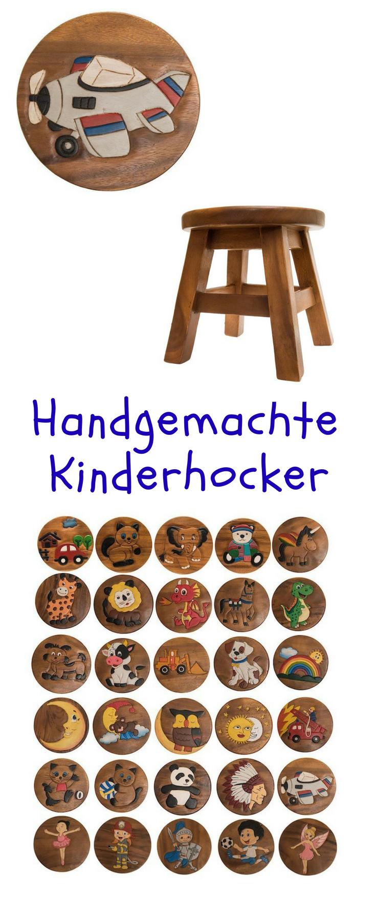 Handgefertigter Kinderhocker aus Holz, Kinderhocker Flugzeug ...