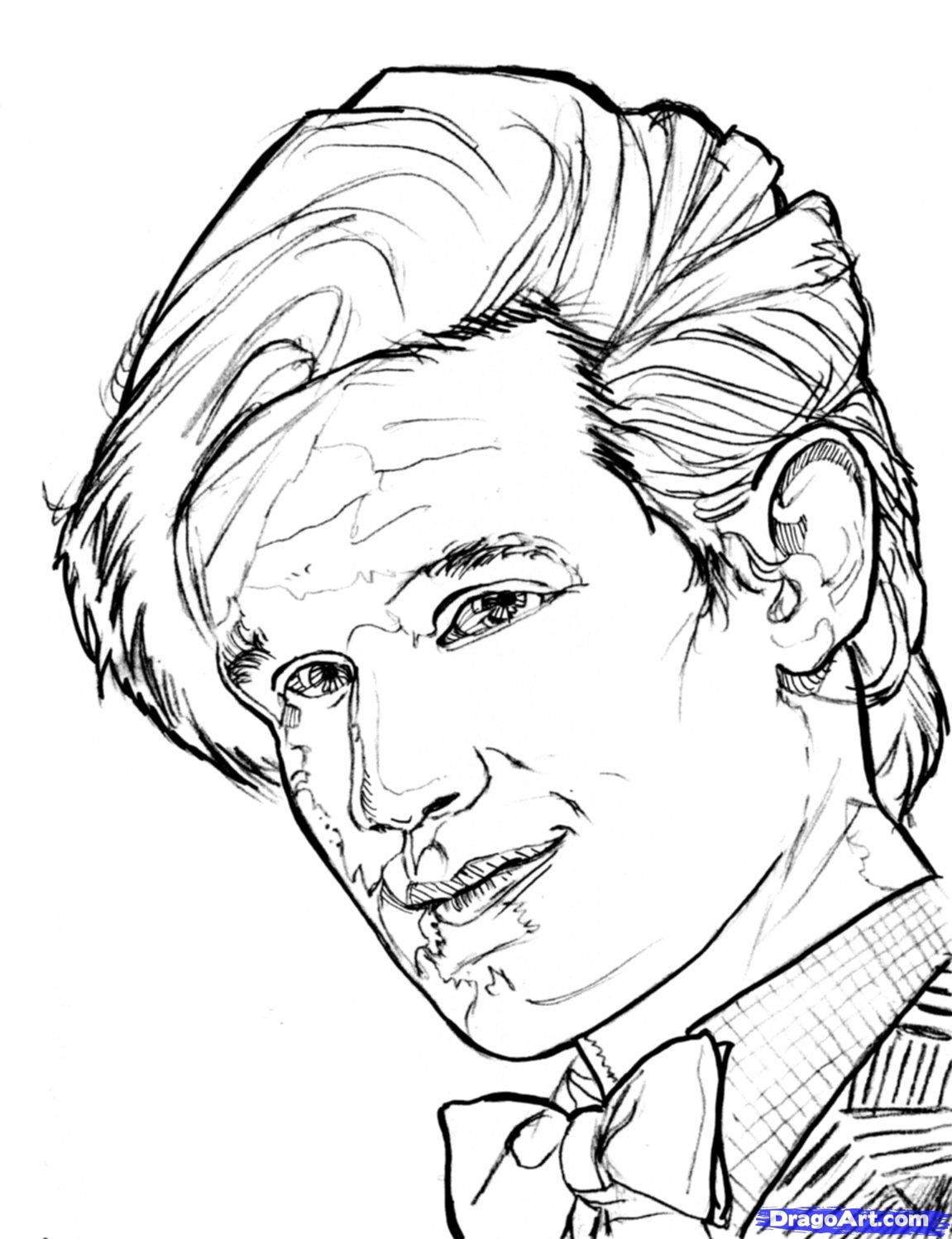 dr facilier coloring pages | doctor who silence Colouring Pages | Doctor who art ...