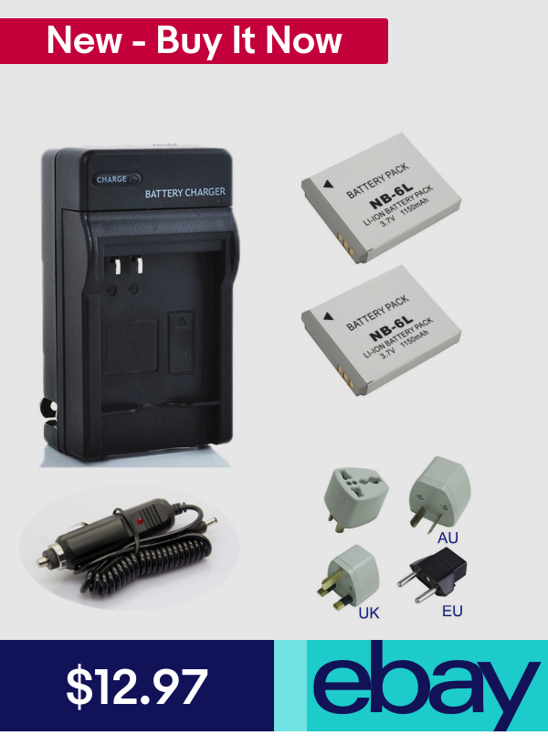 Device Specific Electronics Batteries Ebay Cameras Canon Battery Battery Pack Charger Camera Battery Charger