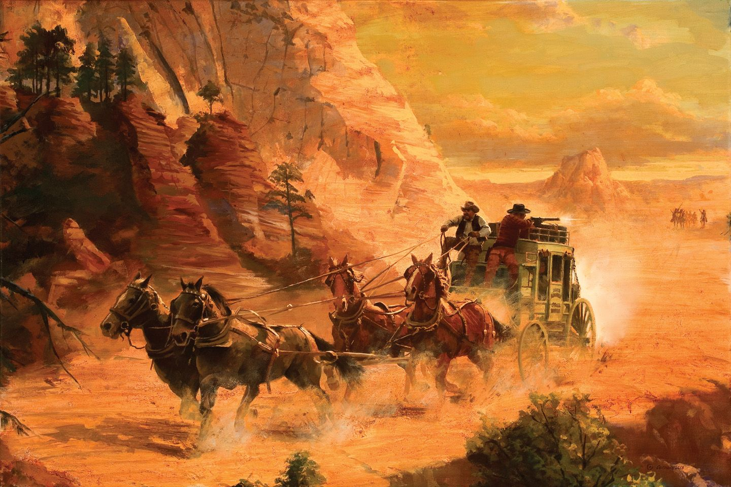painting wallpaper western - photo #1