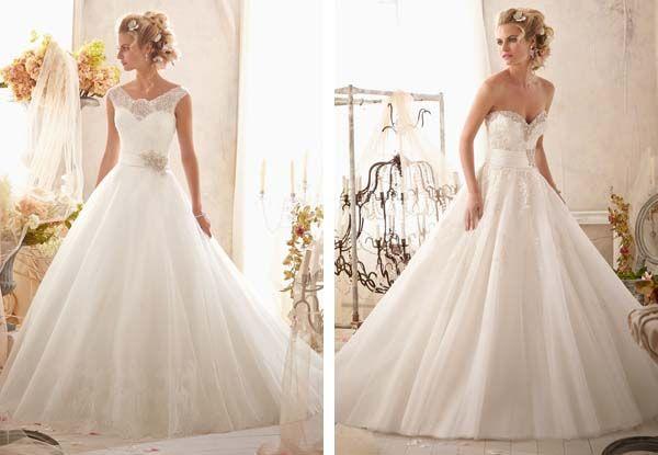 luxurious princess wedding gowns.