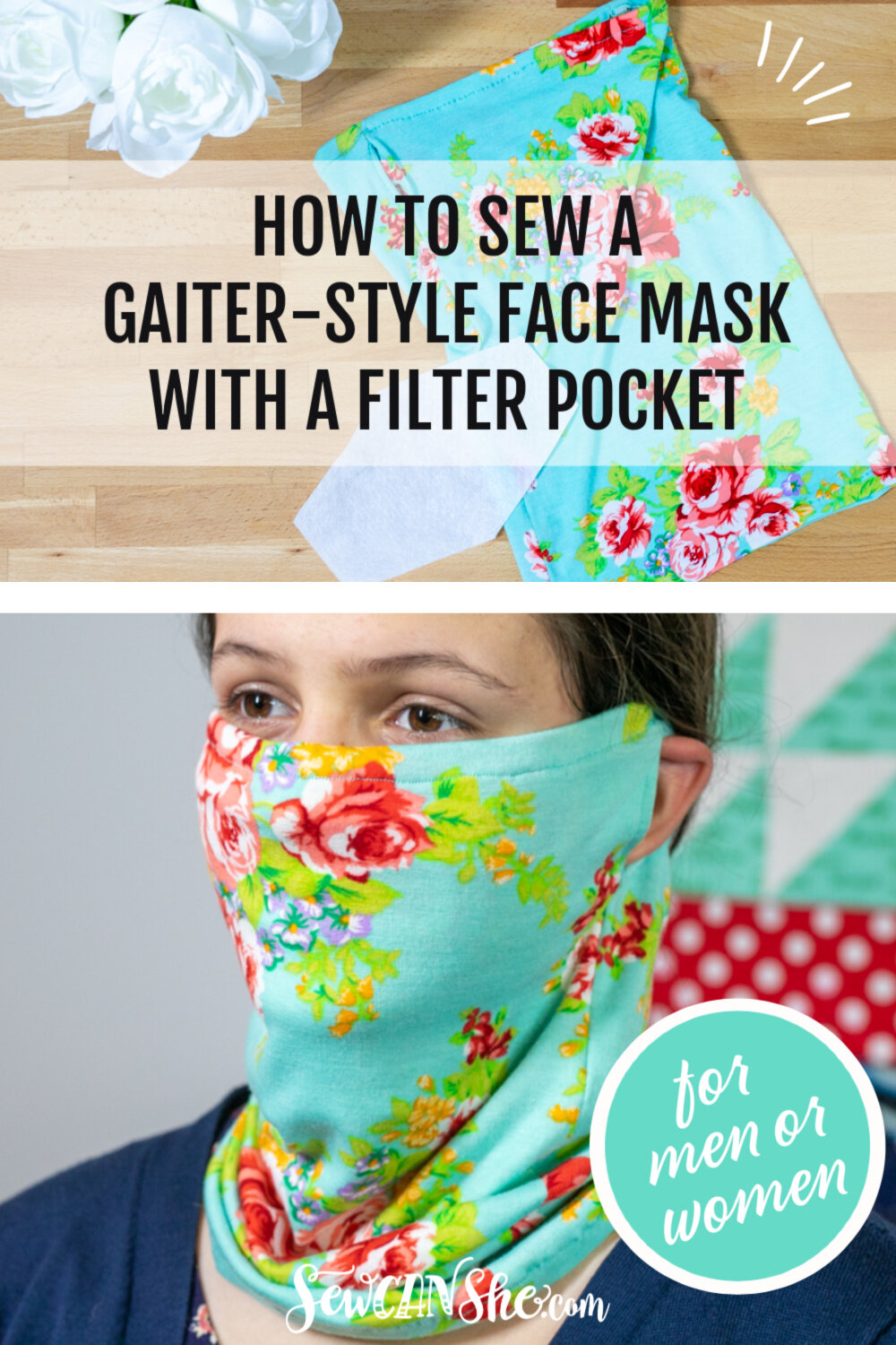 Photo of How to Sew a Gaiter-Style Face Mask for Men or Women — SewCanShe | Free Sewing Patterns and Tutorials