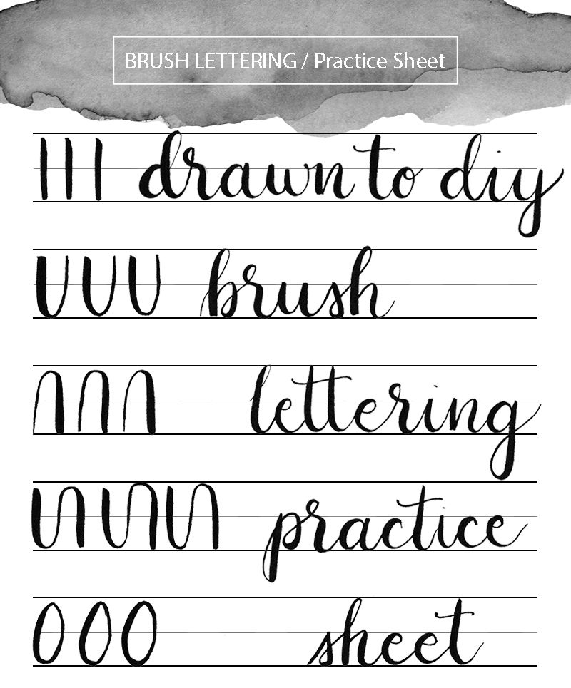 4 Free Printable Calligraphy Practice Sheets (PDF Download ...
