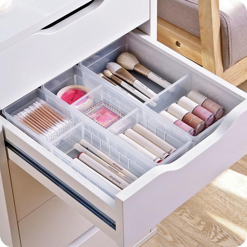 Adjustable Drawer Box Clapboard Drawer Divider Organized Desk Drawers Desk With Drawers Desk Drawer Organisation