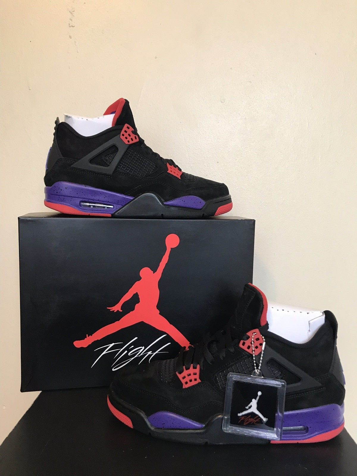 5dae7eb5031 Nike Air Jordan 4 Retro Raptors Court Purple Size 10.5 with Receipt