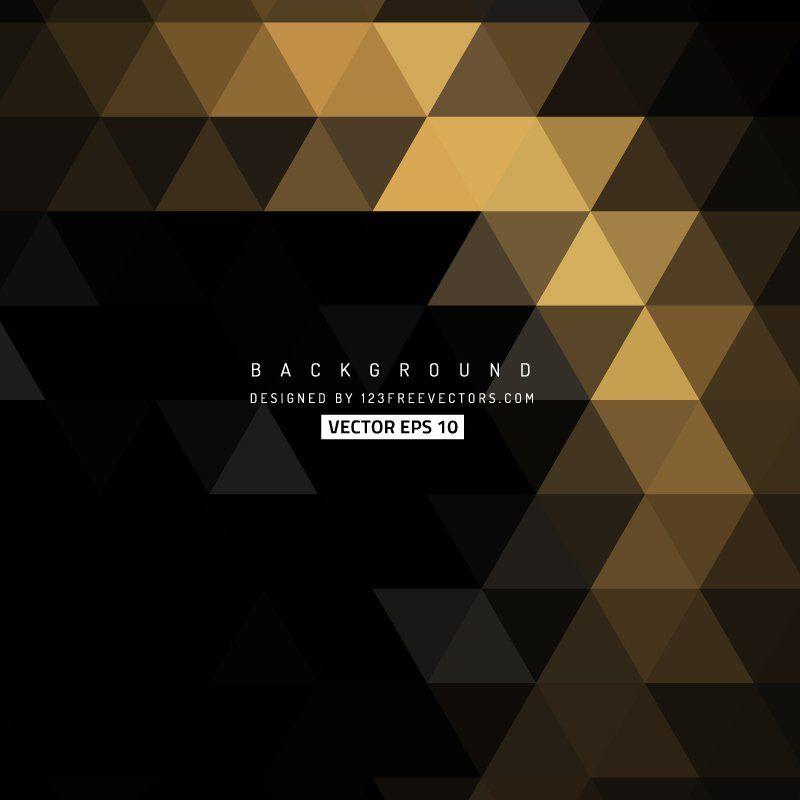 Black Gold Triangle Background Design Triangle Background