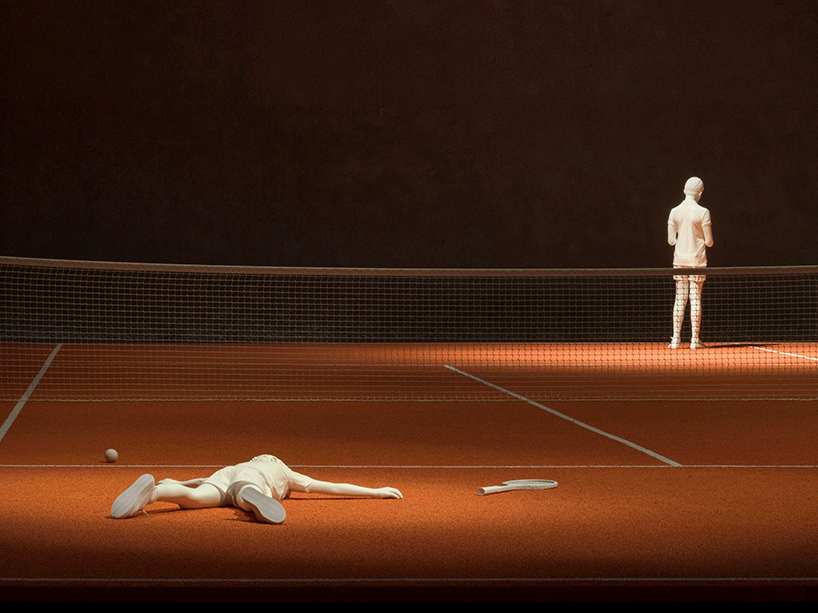 Elmgreen Dragset Installs Tennis Court Inside Berlin S Brutalist Konig Galerie In 2020 Gallery Weekend Road Markings Street Installation