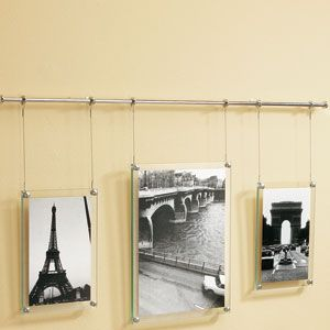 umbra trapeze metal wall hanging picture frame