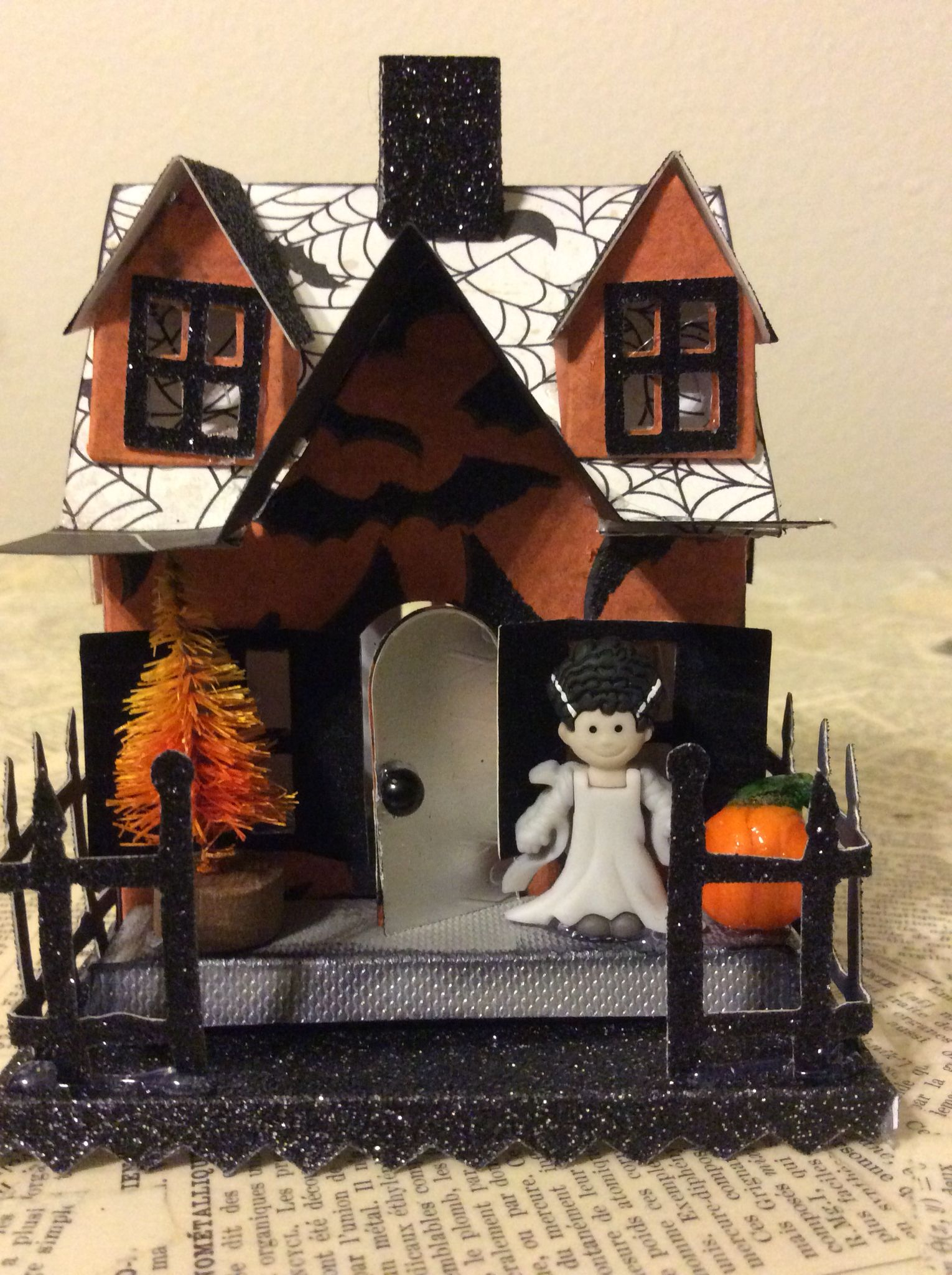 love creating one of a kind vintage inspired putz halloween houses