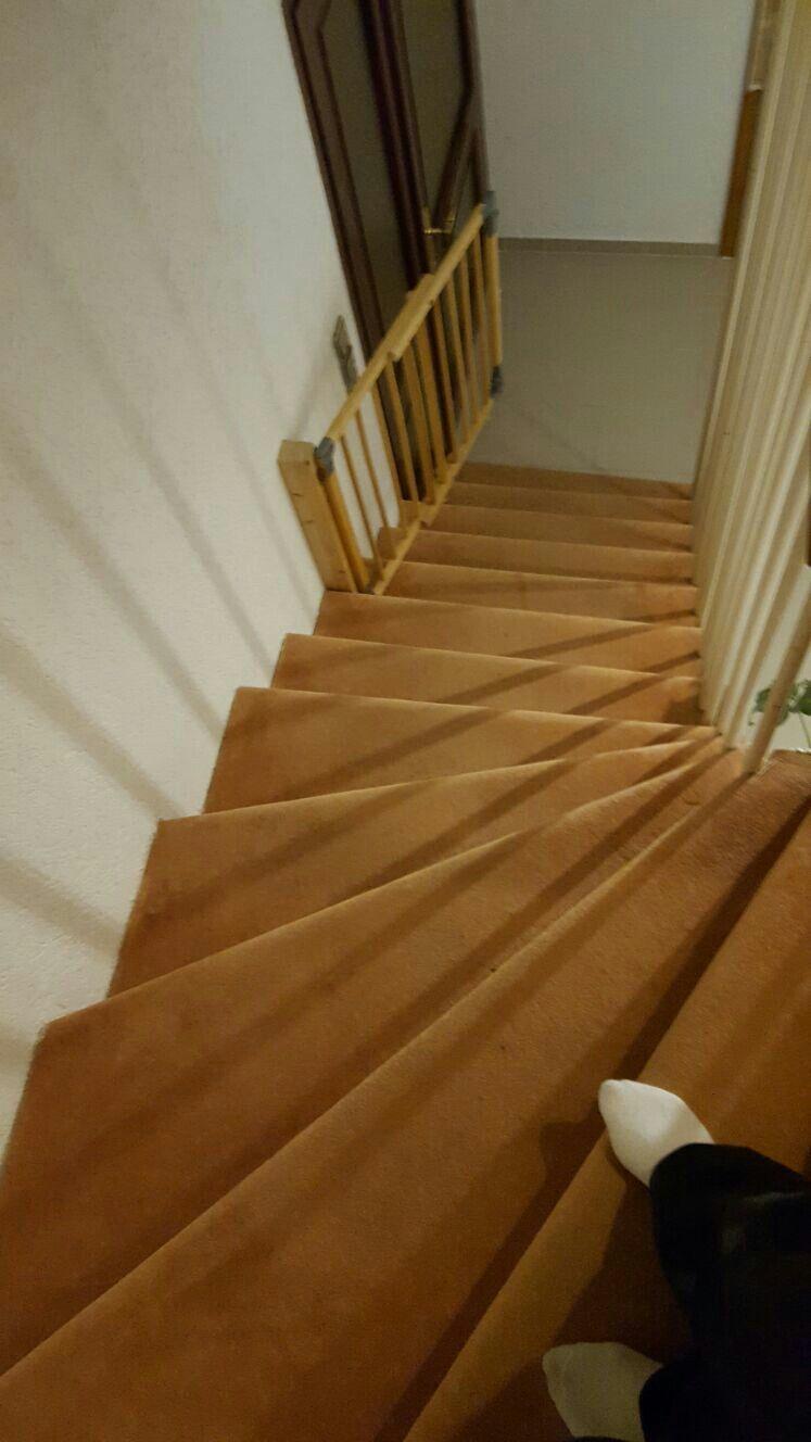 vorher (teppich) | treppe sanieren mit laminat | pinterest | treppe