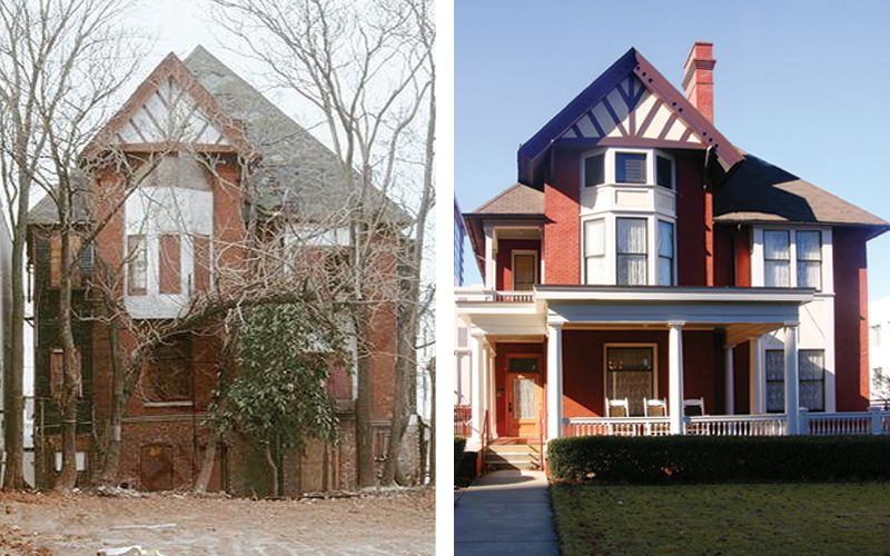 Margaret Mitchell House Before And After Restoration Old