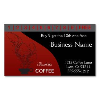 Coffee punch cards business card zazzlebesties zazzle business coffee punch cards business card zazzlebesties zazzle reheart Image collections