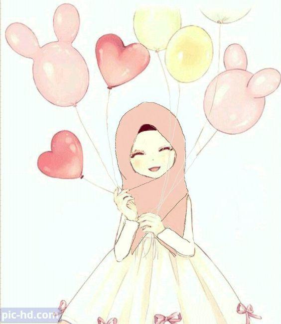 رمزيات بنات محجبات اجمل صور رمزيات بنات كيوت رمزيات كشخه للبنات Anime Muslimah Anime Muslim Hijab Cartoon