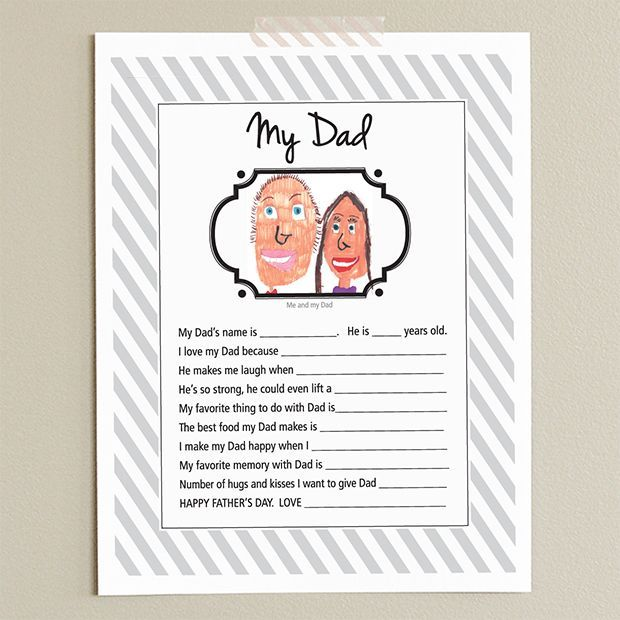 Father S Day Printable For Dad A Fun Card The Kids To Make And Something Will Treasure Years Come Can T Wait See That Write In