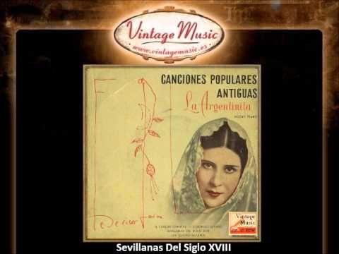 La Argentinita y Federico García Lorca -- Sevillanas Del Siglo XVIII (VintageMusic.es)