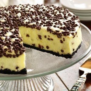 Eagle Brand Chocolate Chip Cheesecake Chocolate Chip Cheesecake Desserts Cheesecake Recipes