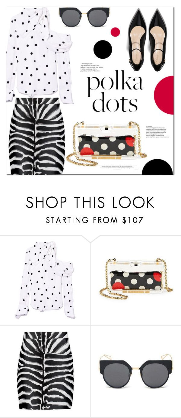 """So Dotty: Polka Dots"" by monica-dick ❤ liked on Polyvore featuring Monse, RED Valentino, Roberto Cavalli, LMNT, PolkaDots and polyvoreeditorial"