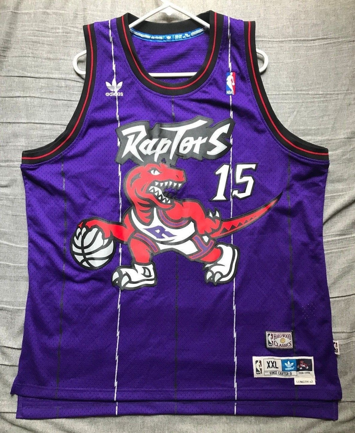 13d9e2d24 Men s Adidas NBA Toronto Raptors jersey Vince Carter  15 size XXL+2 ...