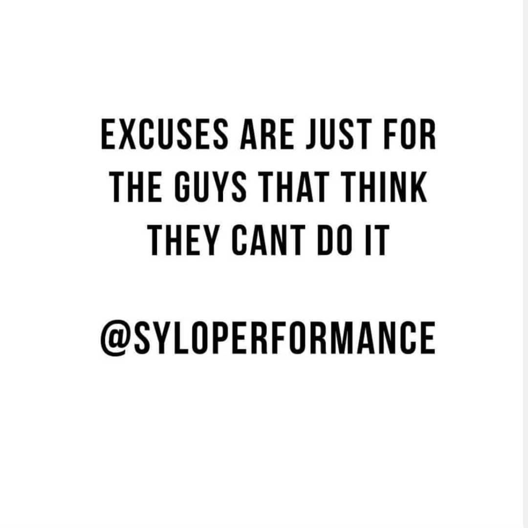 Excuses are just for the guys that think they cant do it  Only been back training with Javlon for 1...