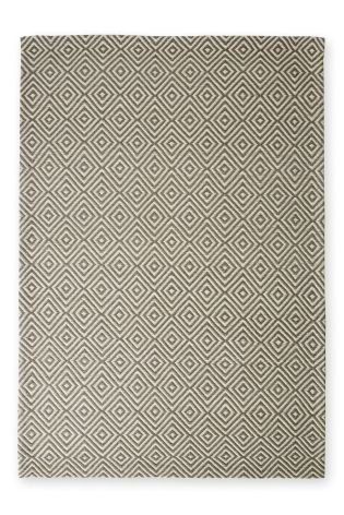 Wool Diamond Geo Grey Rug From The Next Uk Online
