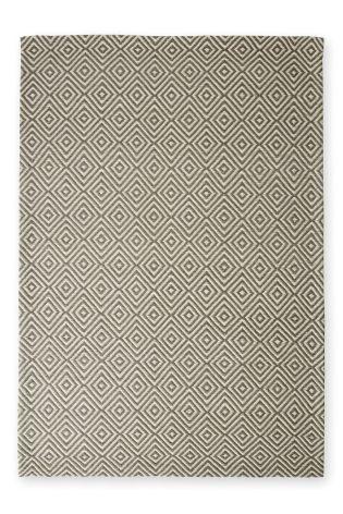Buy Wool Diamond Geo Grey Rug From The Next UK Online Shop