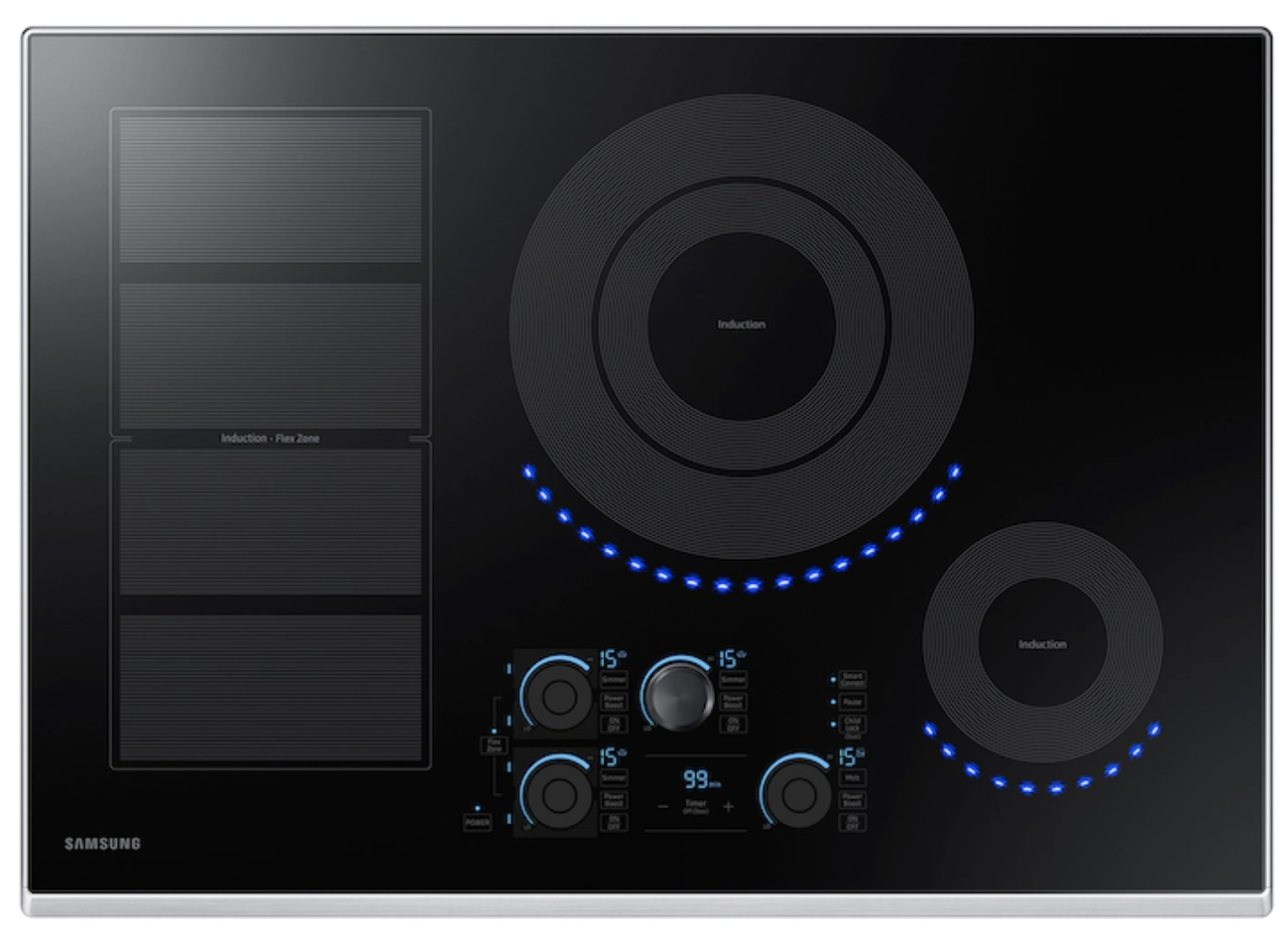 30 Inch Induction Cooktop In Stainless Steel Nz30k7880us Samsung Us Induction Cooktop Cooktop Induction