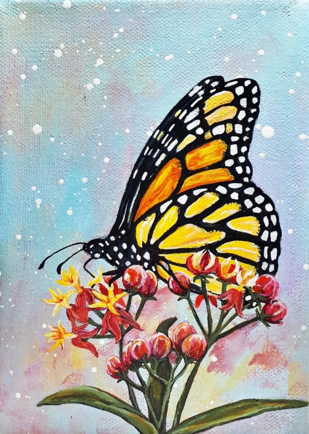Monarch Butterfly Paitning - Rachelle Dyer #painting #butterfly #painting