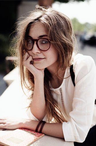 glasses girl Skinny geek