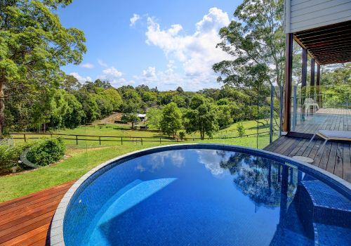 Australian concrete plunge pools brisbane hot tube for Above ground pool decks brisbane