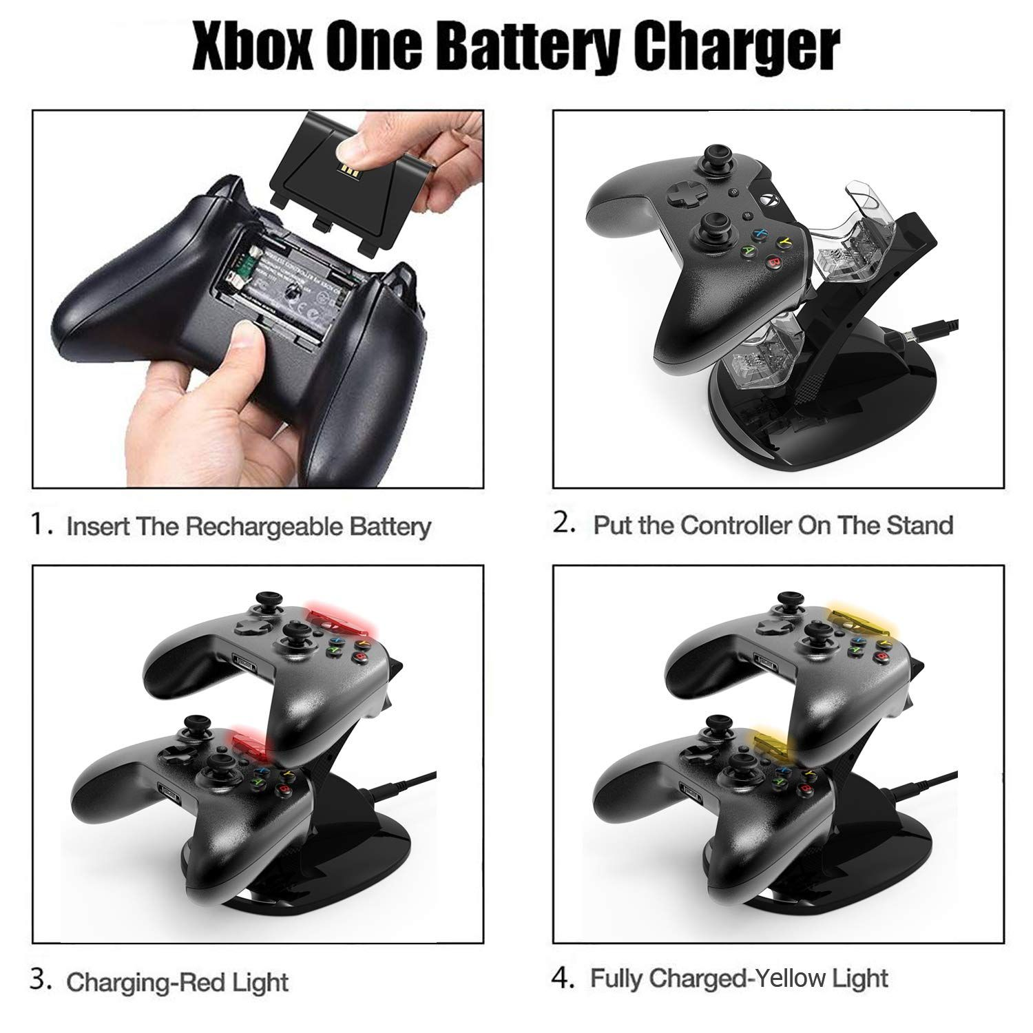 Xbox One One S Controller Charger Xbox One Dual Docking Charging Station Stand With 2 X Rechargeable Battery Packs Battery Pack Sport Shoes Charging Station