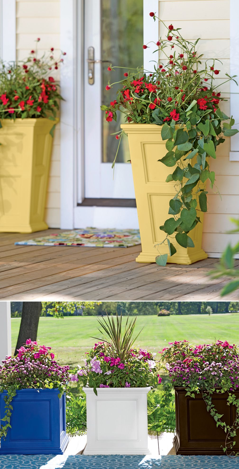 Easy Care, Self Watering Fairfield Polyethylene Planters Make The Most Of  Small Spaces. Tall PlantersPatio PlantersGarden ...