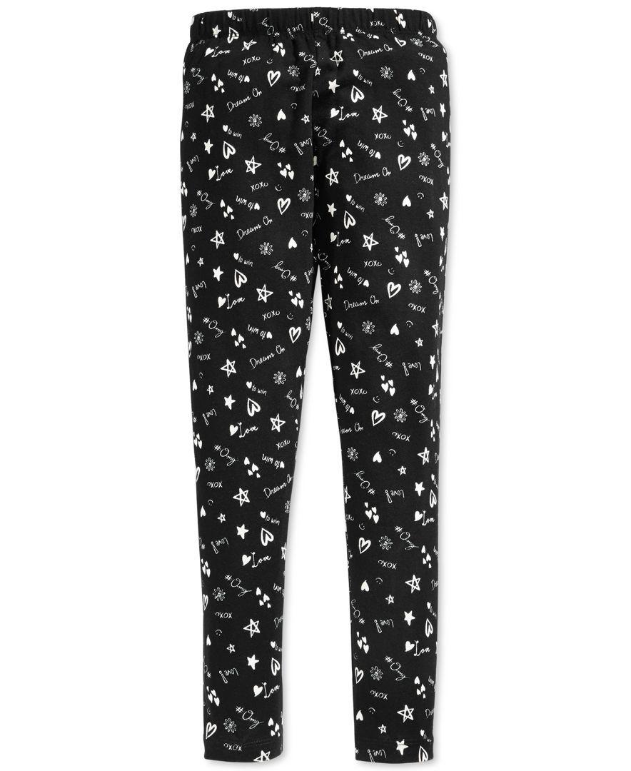 Epic Threads Girls' Love-Print Leggings, Only at Macy's