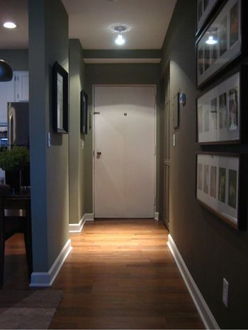 Couloir peint en gris home pinterest hall foyers for Armoire couloir design