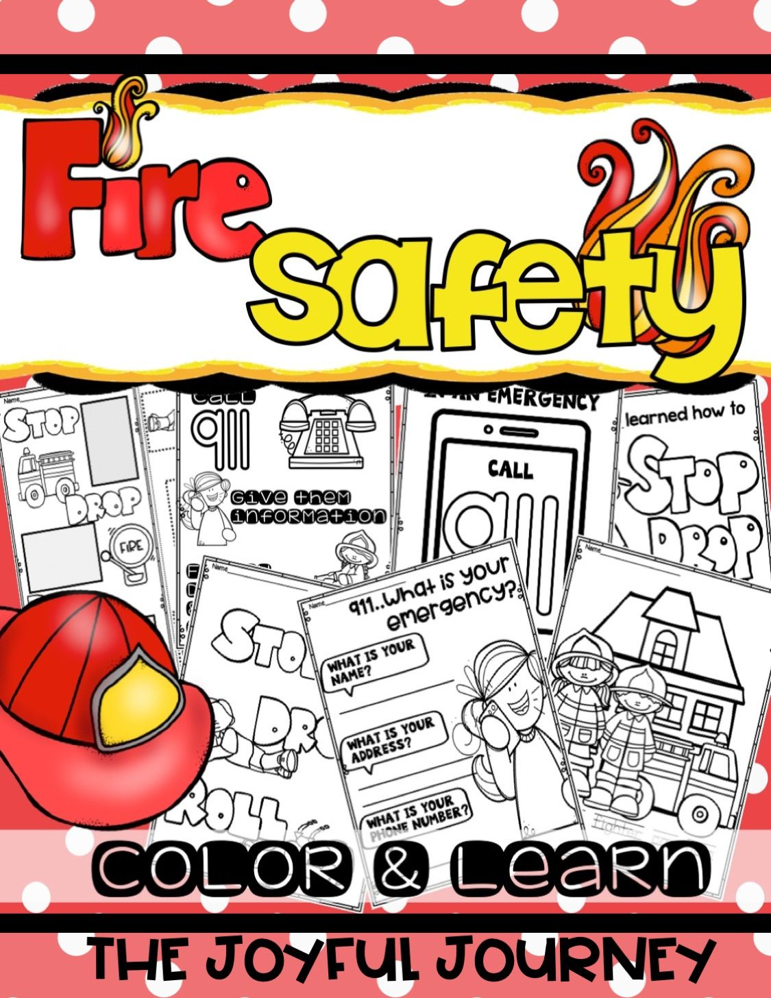 Fire Prevention Safety Week Color Pages Coloring Sheets