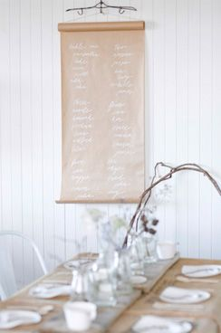 kraft paper with chalk for sweet notes on a vintage hanger