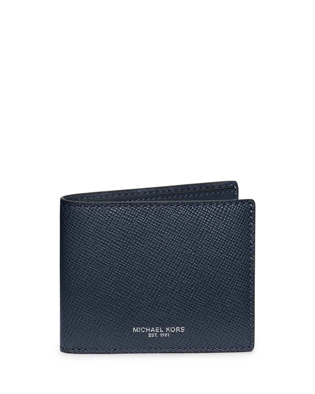 fb30f41c910f MICHAEL Michael Kors Harrison Cross-Grain Leather Wallet