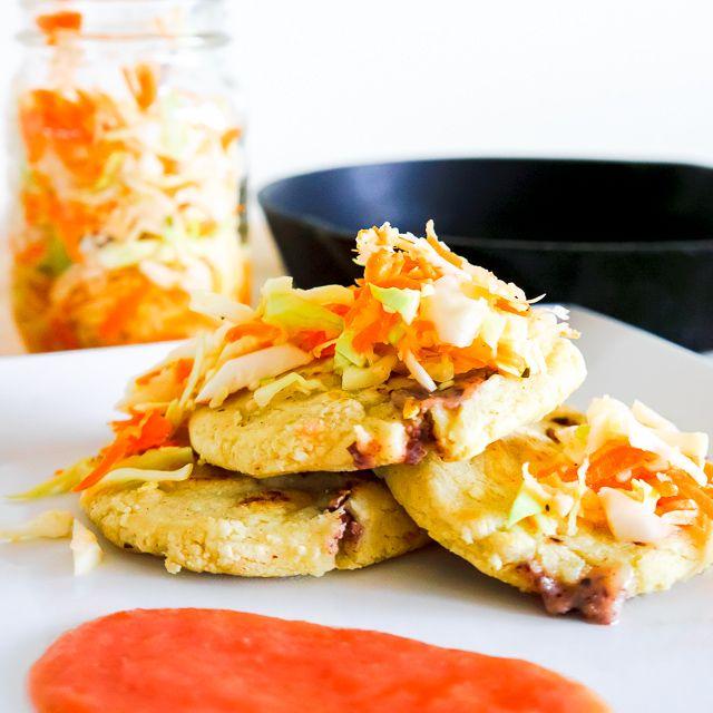 salvadoran comfort food pupusas with curtido pickled