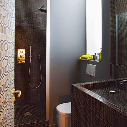 optimiser l espace dans un appartement de 35 m2 salle de bain minuscule peinture satin e et. Black Bedroom Furniture Sets. Home Design Ideas
