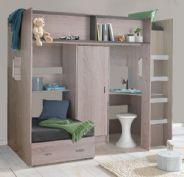 high sleeper and high cabin beds rutland high sleeper with futon bed oak effect   lost boys haven      rh   pinterest co uk