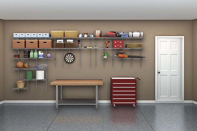 ShelfTrack From ClosetMaid Is The Perfect Accessory For Your Garage Tools  And Other Accessories.