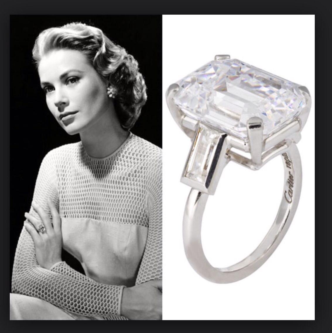 Grace Kelly anello fidanzamento Anelli e solitari Pinterest