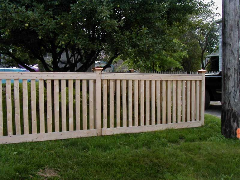 Wood Open Fence - Google Search