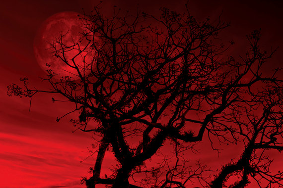 red moon at night meaning - photo #36